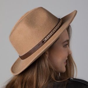 Accessories - DOLLY Western style panana hat - CAMEL